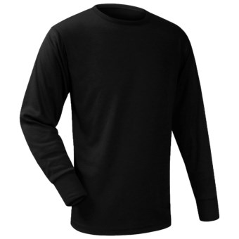 Wickers Long Underwear Top - Midweight, Comfortrel®, Long Sleeve (For Men) in Black