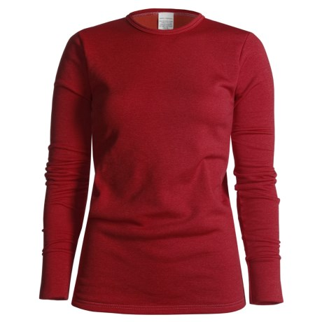 Wickers  Long Underwear Top - Midweight Comfortrel®, Long Sleeve (For Women) in Red
