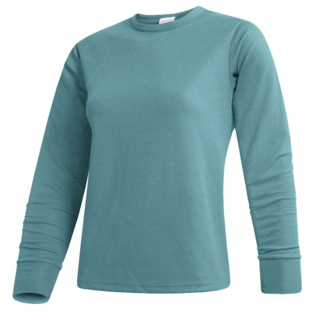 Wickers  Long Underwear Top - Midweight Comfortrel®, Long Sleeve (For Women) in Seafoam