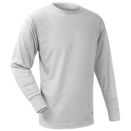 Wickers Long Underwear Top - Midweight, Long Sleeve (For Men) in Grey