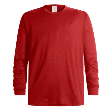 Wickers Long Underwear Top - Midweight, Long Sleeve (For Men) in Red