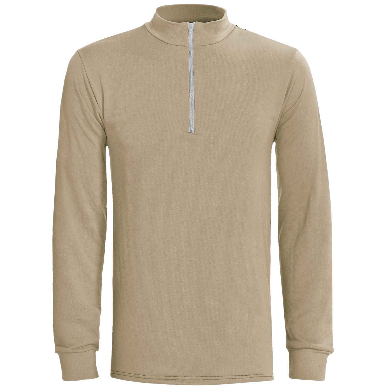 Wickers long underwear top zip mock turtleneck for Big and tall mock turtleneck shirt