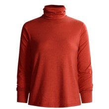 Wickers Long Underwear Turtleneck - Midweight, Comfortrel® (For Women) in Dark Red - 2nds