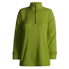 Wickers Midweight Base Layer Top - Zip Neck, Midweight, Long Sleeve (For Women) in Kiwi - 2nds