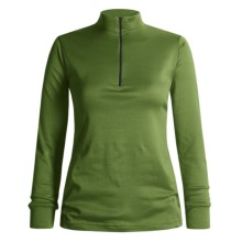 Wickers Midweight Base Layer Top - Zip Neck, Midweight, Long Sleeve (For Women) in Light Green - 2nds