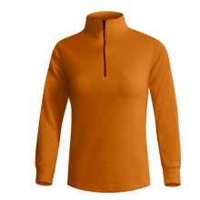 Wickers Midweight Base Layer Top - Zip Neck, Midweight, Long Sleeve (For Women) in Orange - 2nds