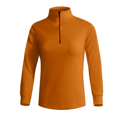 Wickers Midweight Base Layer Top - Zip Neck, Midweight, Long Sleeve (For Women) in Kiwi