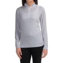 Wickers Midweight Turtleneck Base Layer Top - Neck Zip, Long Sleeve (For Women) in Grey Heather - Closeouts