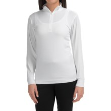 Wickers Midweight Turtleneck Base Layer Top - Neck Zip, Long Sleeve (For Women) in White - Closeouts