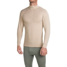 Wickers Midweight Turtleneck Base Layer Top - Zip Neck, Long Sleeve (For Men) in Desert Sand - Closeouts