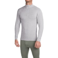 Wickers Midweight Turtleneck Base Layer Top - Zip Neck, Long Sleeve (For Men) in Grey Heather - Closeouts
