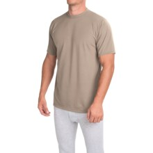 Wickers Moisture-Wicking Classic Fit Base Layer Top - Lightweight, Short Sleeve (For Men) in Desert Sand - Closeouts