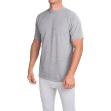 Wickers Moisture-Wicking Classic Fit Base Layer Top - Lightweight, Short Sleeve (For Men) in Grey Heather - Closeouts