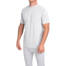 Wickers Moisture-Wicking Classic Fit Base Layer Top - Lightweight, Short Sleeve (For Men) in White - Closeouts