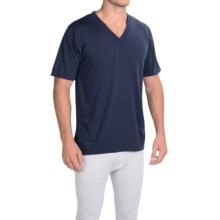 Wickers Moisture-Wicking Classic T-Shirt - V-Neck, Short Sleeve (For Men) in Navy - Closeouts