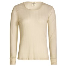 Wickers Pointelle Base Layer Top - Long Sleeve (For Women) in Natural - Closeouts