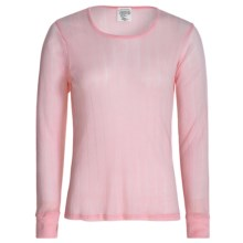 Wickers Pointelle Base Layer Top - Long Sleeve (For Women) in Pink - Closeouts