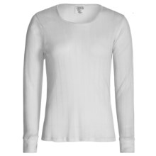 Wickers Pointelle Base Layer Top - Long Sleeve (For Women) in White - Closeouts