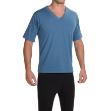 Wickers Trim Fit V-Neck T-Shirt - Short Sleeve (For Men) in Aviator Blue - Closeouts
