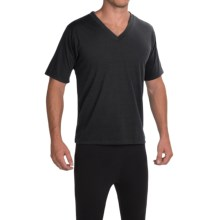 Wickers Trim Fit V-Neck T-Shirt - Short Sleeve (For Men) in Black - Closeouts