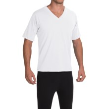 Wickers Trim Fit V-Neck T-Shirt - Short Sleeve (For Men) in White - Closeouts