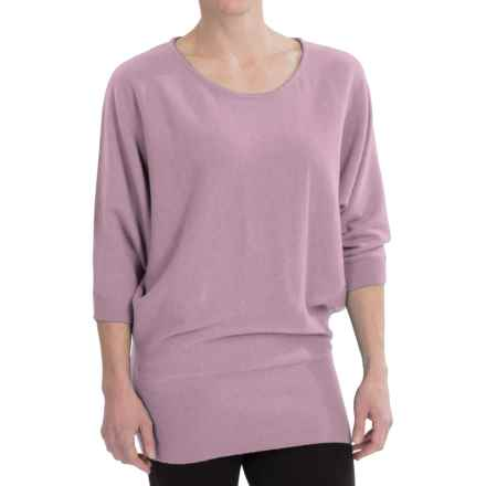 Wide-Hem Cashmere Sweater - Batwing Sleeve (For Women) in African Violet - Closeouts