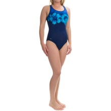 Wide Strap Tank One-Piece Swimsuit (For Women) in Nautical Navy Floral - 2nds