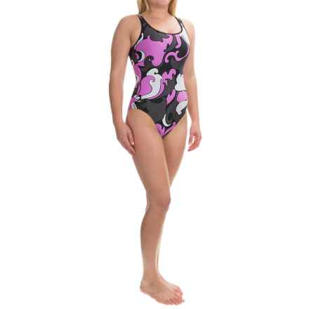 Wide Strap Tank One-Piece Swimsuit (For Women) in Rose Floral Print - 2nds
