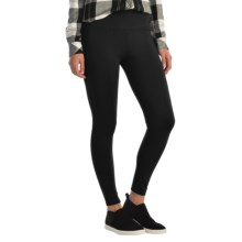 Wide Waist Ponte Leggings (For Women) in Black - 2nds