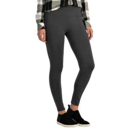 Wide Waist Ponte Leggings (For Women) in Charcoal - 2nds