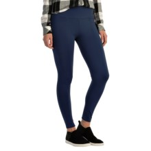 Wide Waist Ponte Leggings (For Women) in Navy - 2nds