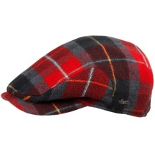 Wigens Buffalo Plaid Cap - Wool Blend (For Men) in Red - Closeouts