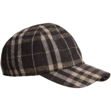 Wigens Check Baseball Cap - Ear Flaps in 049 Brown - Closeouts
