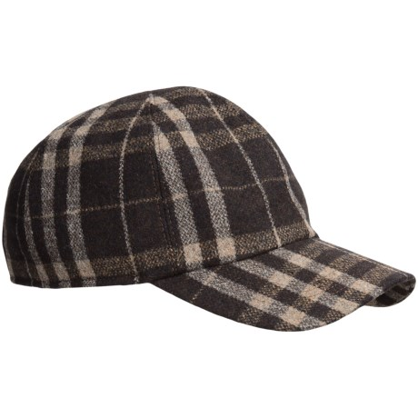 wigens check baseball cap ear flaps save 83
