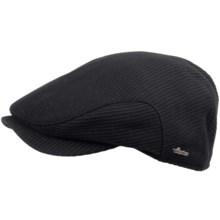 Wigens Diagonal Cord Cap - Wool (For Men) in Black - Closeouts