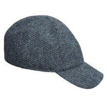 Wigens Fancy Baseball Cap - Wool, Ear Flaps in 060 Blue - Closeouts