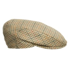Wigens Ivy Check Wool Cap - Ear Flaps in 085 Olive - Closeouts