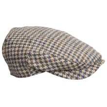 Wigens Ivy Houndstooth Cap - Wool, Ear Flaps in 040 Light Brown - Closeouts
