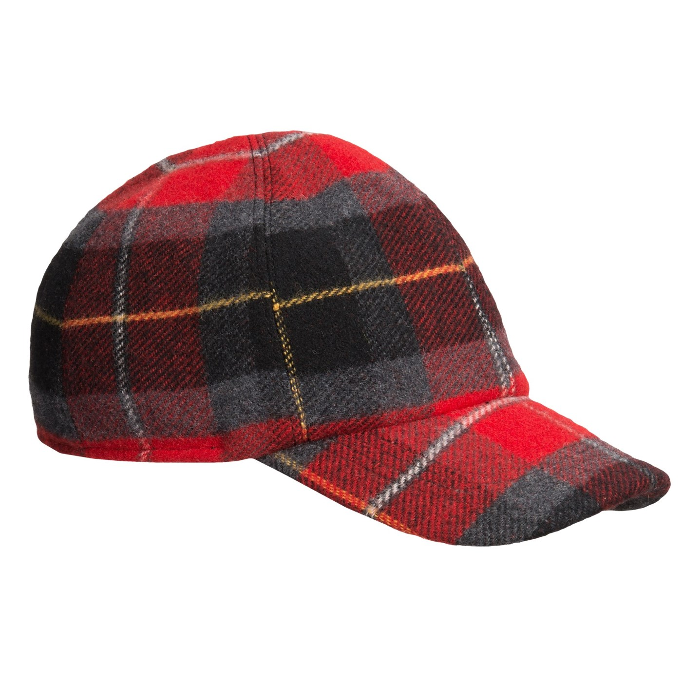 f2b3f739a78c4 Wigens Plaid Baseball Cap Wool