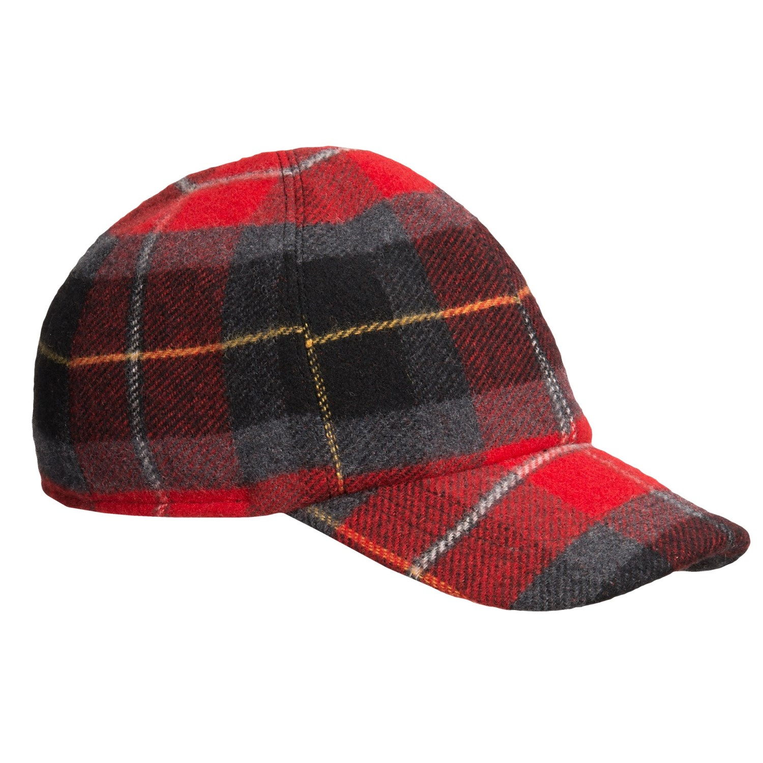 wigens plaid baseball cap wool ear flaps save 68