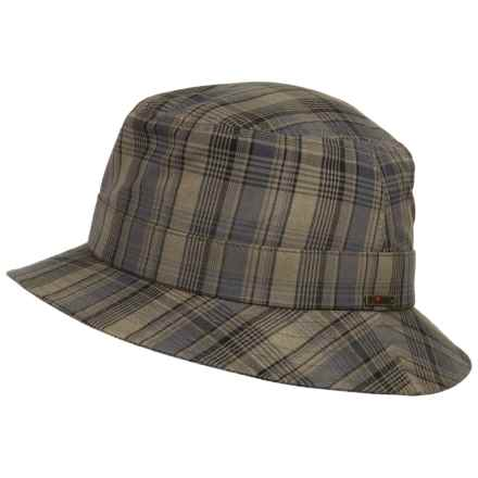 Wigens Plaid Bucket Cap (For Men) in Blue/Cream - Closeouts