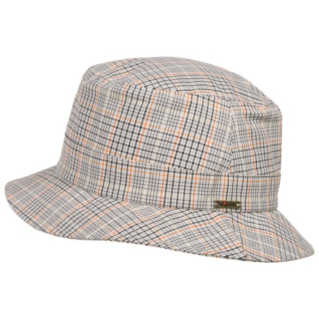 Wigens Plaid Bucket Cap (For Men)