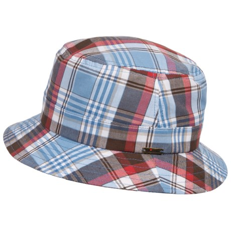 Wigens Plaid Bucket Cap Mesh Lined (For Men)