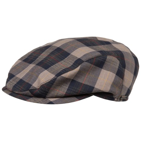 Wigens Slim Plaid Ivy Cap Lambswool, Mesh Lined (For Men)