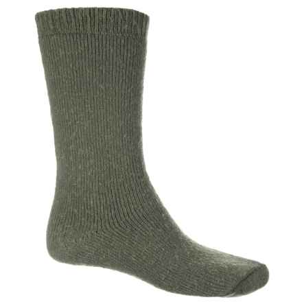 Wigwam 40 Below Socks - Mid-Calf (For Men and Women) in Olive - 2nds