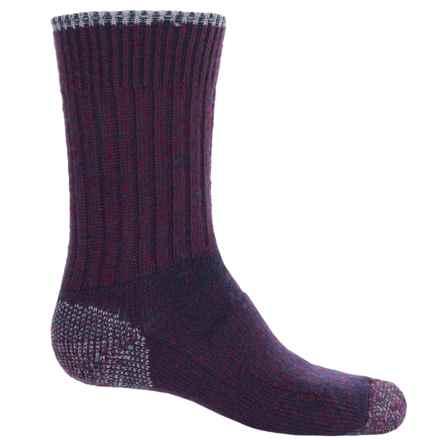 Wigwam All-Weather Boot Socks - Merino Wool Blend, Crew (For Women) in Purple Heather - 2nds