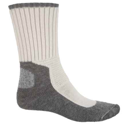 Wigwam At Work Dura Pro Socks - Crew (For Men) in Natural/Grey - 2nds