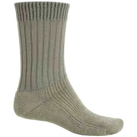 Wigwam At Work Steel Toe Socks - Crew (For Men) in Natural / Olive - 2nds