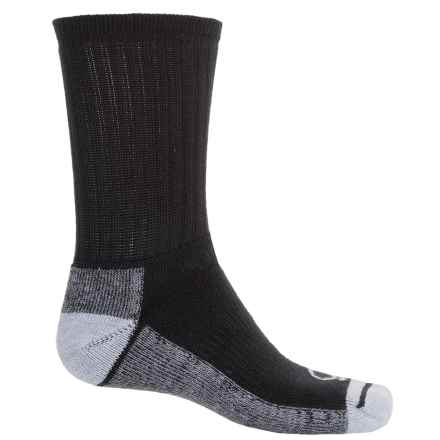 Wigwam Avenger Midweight Work Socks - Crew (For Men) in Black/Black Heather/Grey Heather - 2nds