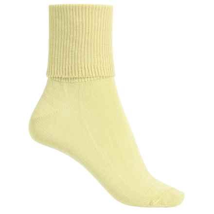Wigwam Breeze Socks - Cotton-Nylon, Crew (For Women) in Daffadil - Closeouts